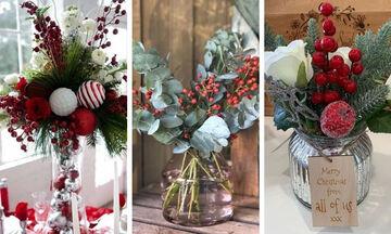 Εύκολες χριστουγεννιάτικες ιδέες για να διακοσμήσετε τα γυάλινα βάζα (pics+vid)