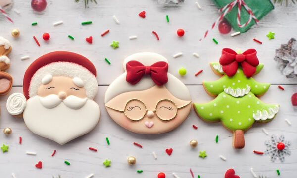 Φτιάξτε και διακοσμήστε τα πιο όμορφα πρωτοχρονιάτικα μπισκότα (vid)