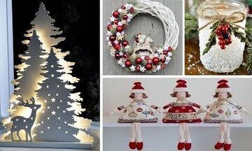 Χριστουγεννιάτικα στολίδια που μπορείτε να φτιάξετε με υλικά που έχετε σπίτι σας (vid)