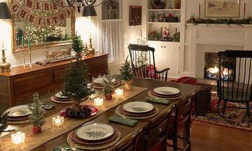 20 χριστουγεννιάτικες ιδέες για να διακοσμήσετε την τραπεζαρία σας (pics)