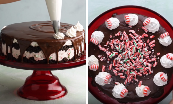 Χριστουγεννιάτικο Cheesecake για το γιορτινό τραπέζι (vid)