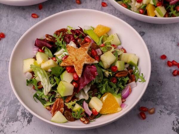 Γιορτινή Σαλάτα με ρόδι και πορτοκάλι - Φτιάξτε την και εσείς