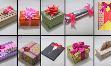 Δέκα ξεχωριστές ιδέες για να τυλίξετε τα χριστουγεννιάτικα δώρα (vid)
