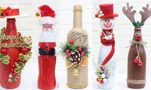Χριστουγεννιάτικα διακοσμητικά με μπουκάλια - Πραγματικά εντυπωσιακά (pics +vid)