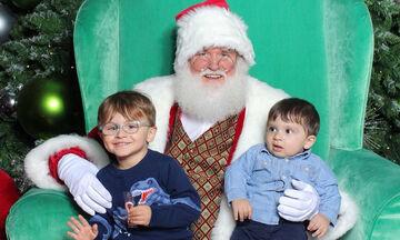 Ελληνίδα παρουσιάστρια φωτογράφησε τα παιδιά της με τον Άγιο Βασίλη (pics)