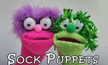 DIY: Φτιάξετε puppets από κάλτσες εύκολα & γρήγορα (vid)