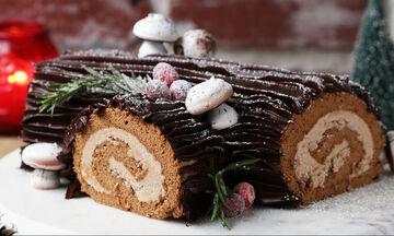 Χριστουγεννιάτικος κορμός σοκολάτας - Ένα γαλλικό γλυκό που θα λατρέψουν μικροί & μεγάλοι (vid)
