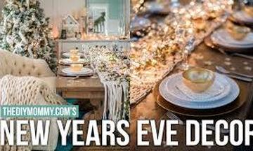Εύκολες ιδέες διακόσμησης για ένα εντυπωσιακό πρωτοχρονιάτικο τραπέζι (vid)