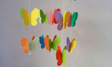 DIY - Φτιάξτε ένα υπέροχο κρεμαστό τοίχου για το παιδικό δωμάτιο (vid)