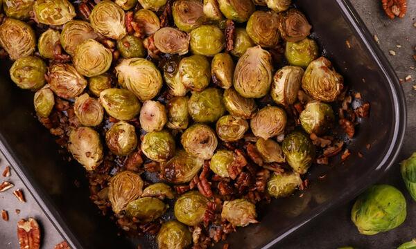 Ψητά λαχανάκια Βρυξελλών - Δείτε πώς θα τα φτιάξετε