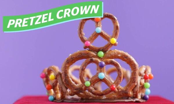Ετοιμάζετε παιδικό πάρτι; Φτιάξτε κορωνίτσες από pretzel (vid)