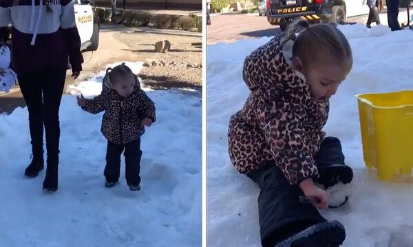 Δείτε τι έκαναν οι γείτονες ενός άρρωστου κοριτσιού όταν έμαθαν ότι δεν μπορεί να πάει στα χιόνια