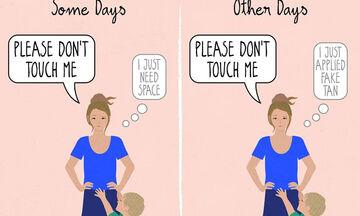 Ευφάνταστα σκίτσα δείχνουν πώς αλλάζει η ζωή μίας γυναίκας όταν γίνεται μαμά (pics)