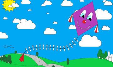 Χρωμοσελίδες για παιδιά: Ζωγραφίζουμε χαρταετούς (pics)