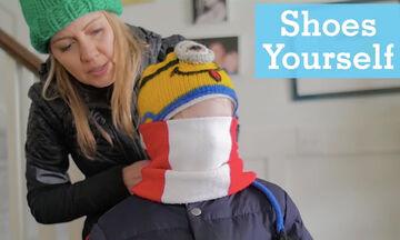 Αυτό το βίντεο είναι αφιερωμένο σε όλους τους γονείς που «κυνηγούν» τα παιδιά τους να βάλουν μπουφάν