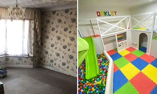 Μπαμπάς μεταμόρφωσε δωμάτιο του σπιτιού του σε έναν φανταστικό παιδότοπο για τον γιο του (pics)