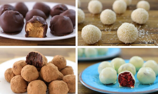 Οκτώ εύκολες συνταγές για τρουφάκια με διαφορετικές γεύσεις (vid)