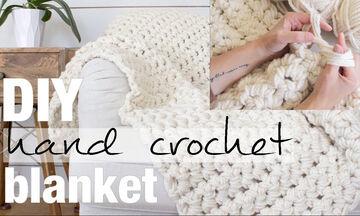 DIY – Φτιάξτε μία υπέροχη κουβέρτα από μαλλί εύκολα & γρήγορα χωρίς βελόνες (vid)