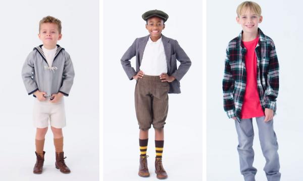 Δείτε πόσο άλλαξαν τα παιδικά αγορίστικα ρούχα τα τελευταία 100 χρόνια (vid)