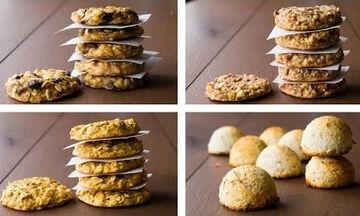 Τέσσερις συνταγές για cookies με λίγες θερμίδες (vid)