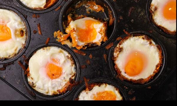 Φωλιές από πατάτα γεμιστές με αυγό - Θα τις λατρέψετε!