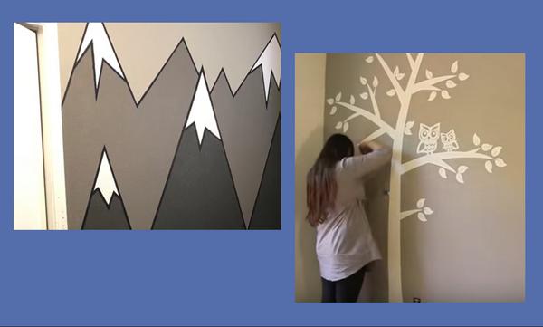 Φανταστικές τοιχογραφίες για το παιδικό δωμάτιο – Δείτε πώς θα τις φτιάξετε βήμα βήμα (vid)