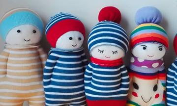 DIY - Φτιάξτε υπέροχες κούκλες από κάλτσες! Δείτε πώς (vid)
