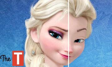 Πώς θα ήταν οι αγαπημένες πριγκίπισσες της Disney χωρίς μακιγιάζ; (vid)