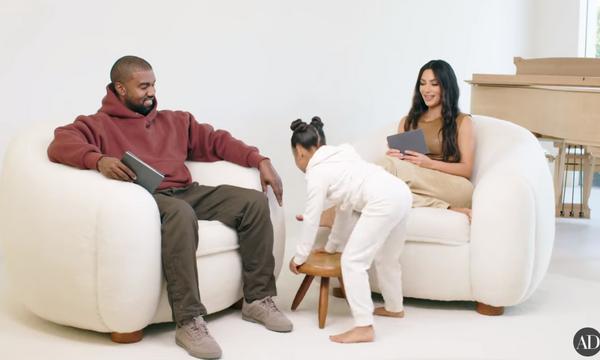 Η North West διέκοψε με τον πιο αξιολάτρευτο τρόπο τη συνέντευξη των γονιών της (vid)