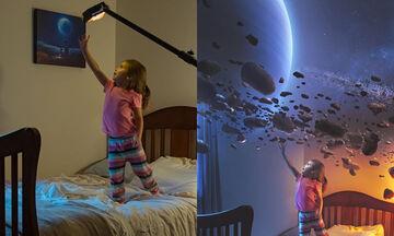 Μπαμπάς δημιουργεί φανταστικές φωτογραφίες με πρωταγωνιστές τα παιδιά του (pics)