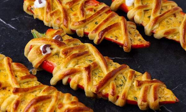 Πιπεριές τυλιγμένες με ζύμη σφολιάτας - Δοκιμάστε τις!