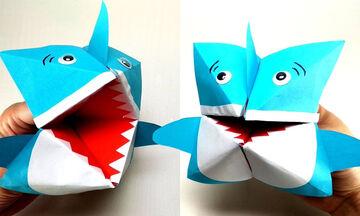 Κατασκευές από χαρτί: Δείτε πώς μπορείτε να φτιάξετε έναν καρχαρία (vid)
