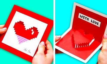 Πρωτότυπες κάρτες που μπορείτε να φτιάξετε με τα παιδιά για την ημέρα του Αγίου Βαλεντίνου (vid)