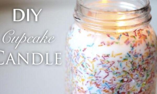 DIY – Φτιάξτε κεριά με άρωμα cupcake εύκολα και γρήγορα (vid)