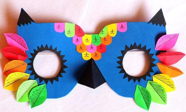 DIY: Αποκριάτικη μάσκα κουκουβάγια - Δείτε πώς θα τη φτιάξετε (vid)