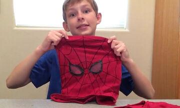 DIY - Δείτε πώς θα φτιάξετε αποκριάτικη μάσκα Spiderman εύκολα και γρήγορα (vid)