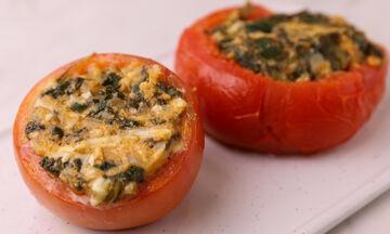 Συνταγή για ντομάτες γεμιστές με σπανάκι