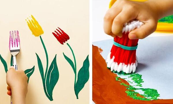Ζωγραφική για παιδιά: Διασκεδαστικοί τρόποι για να φτιάχνει το παιδί σας όμορφες ζωγραφιές (vid)