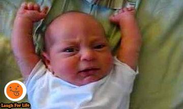 Ξεκαρδιστικό βίντεο: Δε φαντάζεστε πώς αντιδρούν αυτά τα μωράκια όταν ξυπνάνε (vid)