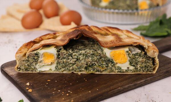 Τάρτα με σπανάκι, τυριά και αυγό (Pasquolina) - Δείτε πώς θα τη φτιάξετε