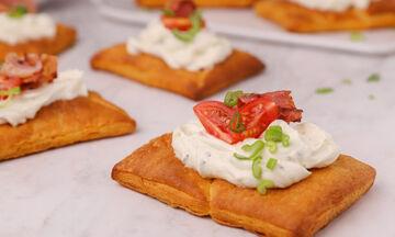 Ταρτάκια με μπέικον και ντοματίνια - Δείτε πώς θα τα φτιάξετε