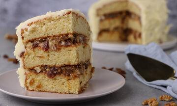 Τούρτα με σταφίδες και αποξηραμένα σύκα (Lady Baltimore cake) - Δείτε πώς θα το φτιάξετε