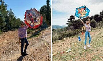 Έλληνες διάσημοι γονείς και τα παιδιά τους: Δείτε πώς πέρασαν την Καθαρά Δευτέρα (pics)