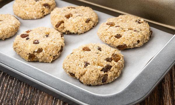 Νηστίσιμα μπισκότα βρώμης με 3 μόλις υλικά - Η τέλεια ιδέα για πρωινό (vid)