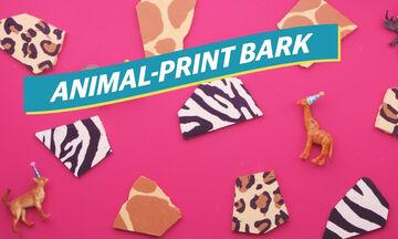 Φαγητό για παιδικό πάρτι: Φτιάξτε animal print σοκολάτες για κέρασμα ή για τον μπουφέ (vid)