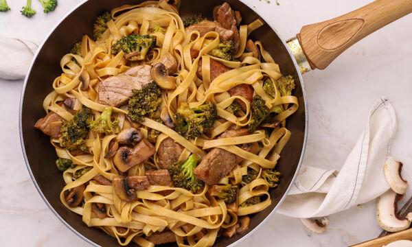Ταλιατέλες με μοσχάρι & μπρόκολο - Δείτε τη συνταγή