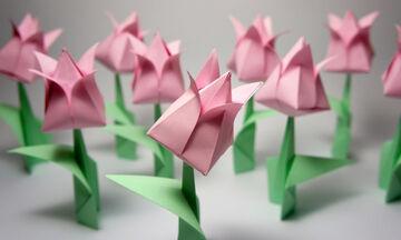 Χειροτεχνίες για παιδιά: Φτιάξτε εντυπωσιακές τουλίπες από origami (vid)