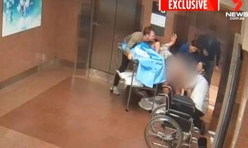 Μαμά στη Μελβούρνη γεννά στο πάτωμα, μπροστά από το ασανσέρ του μαιευτηρίου (vid)