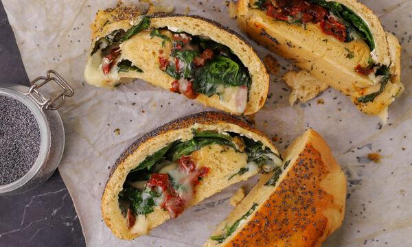 Ψωμί με σπανάκι και τυριά - Δείτε πώς θα το φτιάξετε
