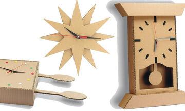 #Μένουμε_Σπίτι - 3 φανταστικές κατασκευές για ρολόγια τοίχου από χαρτόκουτα (vid)
